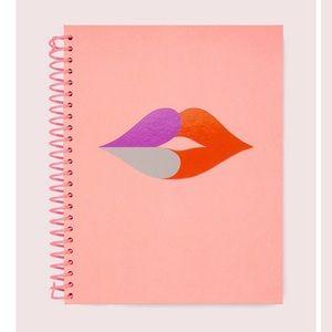 Kate Spade heart lips spiral notebook